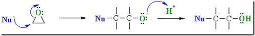 Nucleophilic addition to epoxy