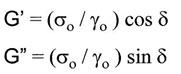 dymanic moduli calculations